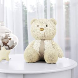 Urso com Gravata Bege 40cm