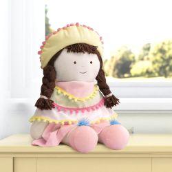 Boneca Branca de Pano Laura Amiguinhas Lhamas