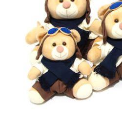 Urso Piloto Azul Marinho 18cm