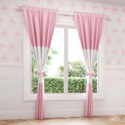Cortina Ursinha Clássica Rosa