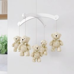 Móbile Urso Teddy Realeza Bege