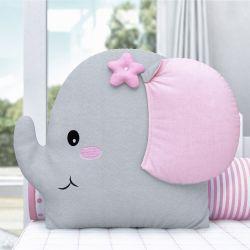 Almofada Amiguinha Elefante Rosa 32cm