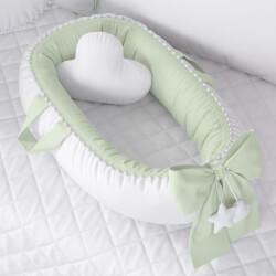 Ninho para Bebê Redutor de Berço Pompom Verde