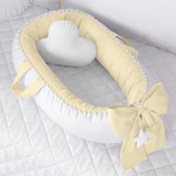 Ninho para Bebê Redutor de Berço Pompom Amarelo