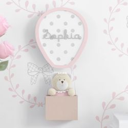 Porta Maternidade Ursinha no Balão Personalizado 30cm