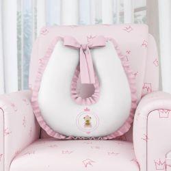 Almofada Amamentação Ursinha Realeza Rosa