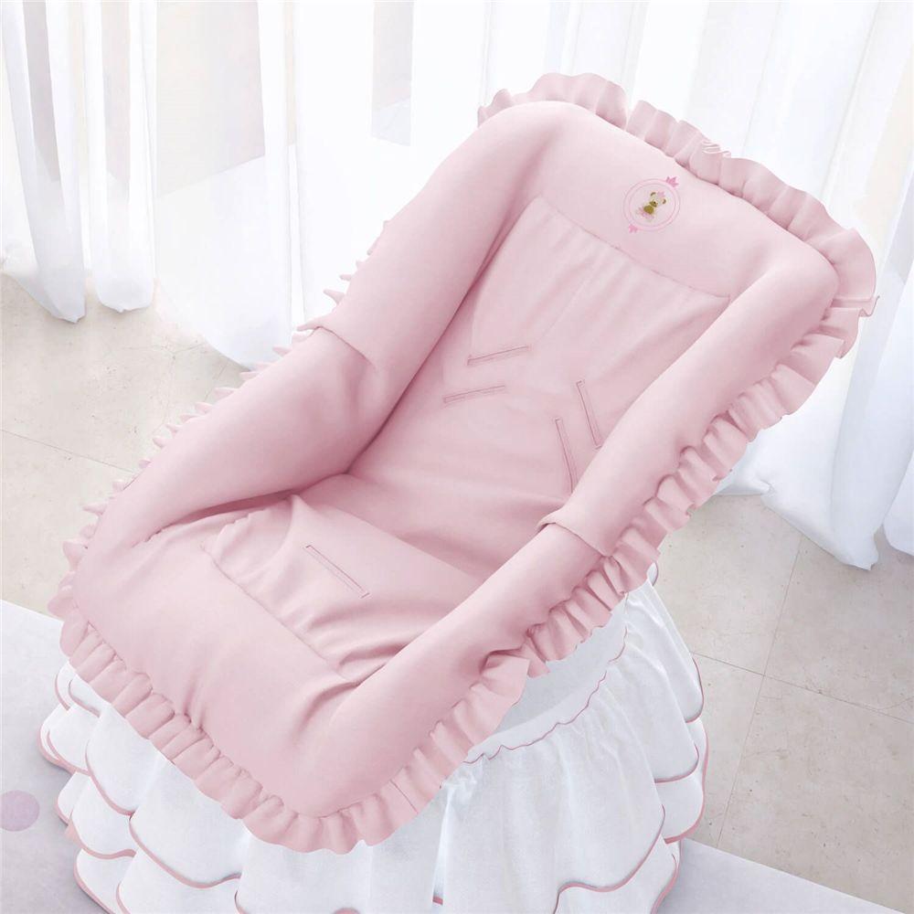 Capa de Bebê Conforto Ursinha Realeza Rosa Grão de Gente