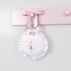 Porta Maternidade Ursinha Realeza Rosa