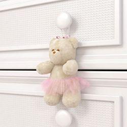 Ursa Petit Enfeite para Puxador Realeza Rosa
