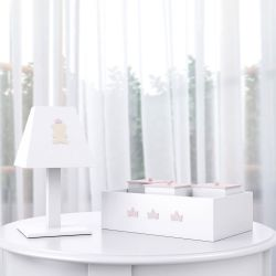 Kit Acessórios Ursinha Realeza Rosa