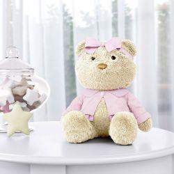 Ursa com Lacinho Rosa 40cm