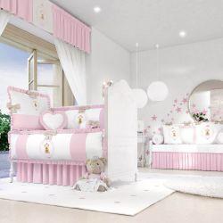 Quarto de Bebê Ursinha Realeza Rosa