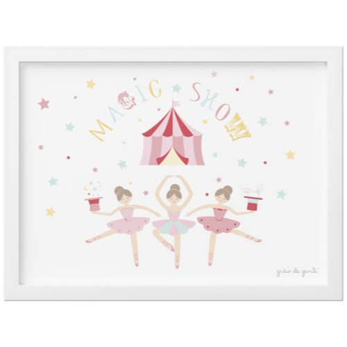 Quadro Circo Bailarinas Trapezistas 33cm