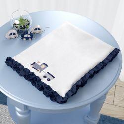 Cobertor Soft Carrinhos Azul Marinho