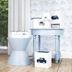 Kit Higiene Carrinhos Azul Marinho