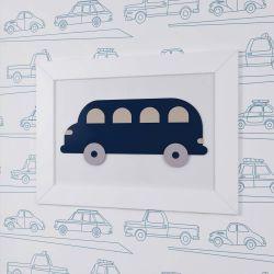 Quadro Ônibus Azul Marinho