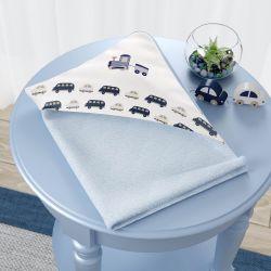 Toalha com Capuz Carrinhos Azul Marinho