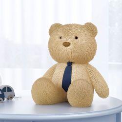 Urso com Gravata Azul Marinho 40cm