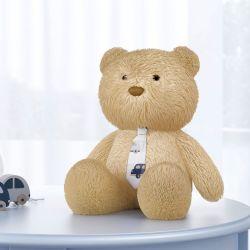 Urso com Gravata Carrinhos Azul Marinho 40cm