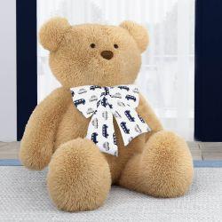 Urso Gigante com Laço Carrinhos Azul Marinho 1m