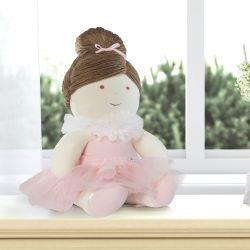 Boneca Branca de Pano Bailarina Baby 45cm