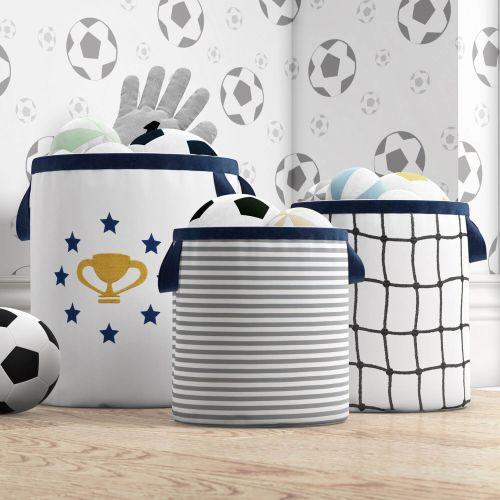 Cestos Organizadores para Brinquedos Futebol Infantil