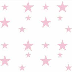 Adesivo de Parede Estrelas Rosa