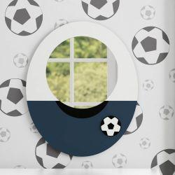 Espelho Redondo Futebol 36cm