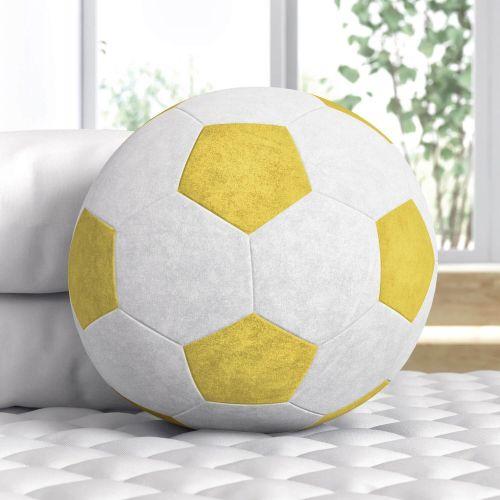 Bola de Futebol Amarela 24cm