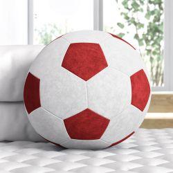 Bola de Futebol Vermelha 24cm