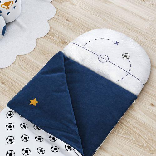 Saco de Dormir Infantil Bolas de Futebol 1,60m