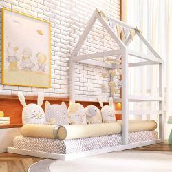 Cama Meia Casinha Montessoriana Branca