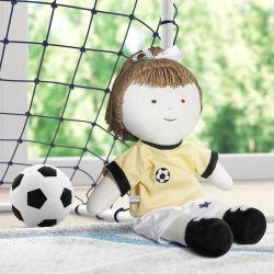 Boneca de Pano Jogadora de Futebol 43cm