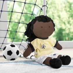 Boneca de Pano Negra Jogadora de Futebol 43cm
