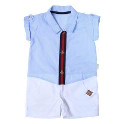 Macacão Curto Camisa Social
