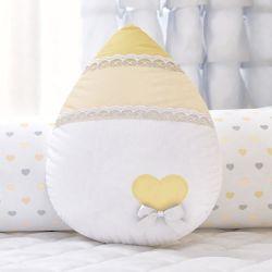 Almofada Gotinha Chuva de Amor Amarelo 30cm