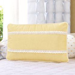 Almofada Rendinha Amarelo 43cm