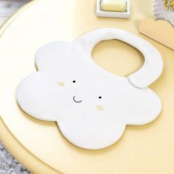 Babador Formato Nuvem Amarelo