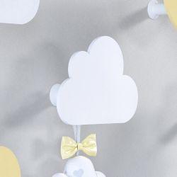 Cabideiro de Parede Nuvem Amarelo