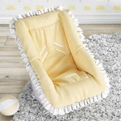 Capa para Bebê Conforto Corações Amarelo