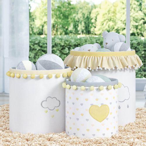 Cestos Organizadores para Brinquedos Chuva de Amor Amarelo