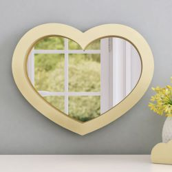 Espelho Coração Amarelo 38cm