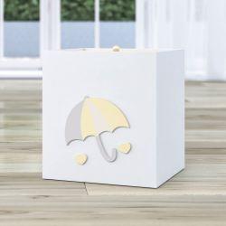 Lixeira Chuva de Amor Amarelo