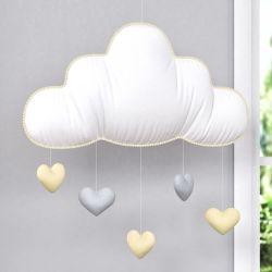Móbile Nuvem Chuva de Amor Amarelo