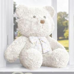 Urso com Laço Corações Amarelo 52cm