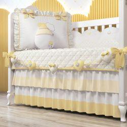 Varal Decorativo Corações Amarelo 1,30m
