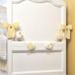 Varal Decorativo Corações Amarelo 70cm