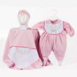 Saída Maternidade Suedine Florzinhas