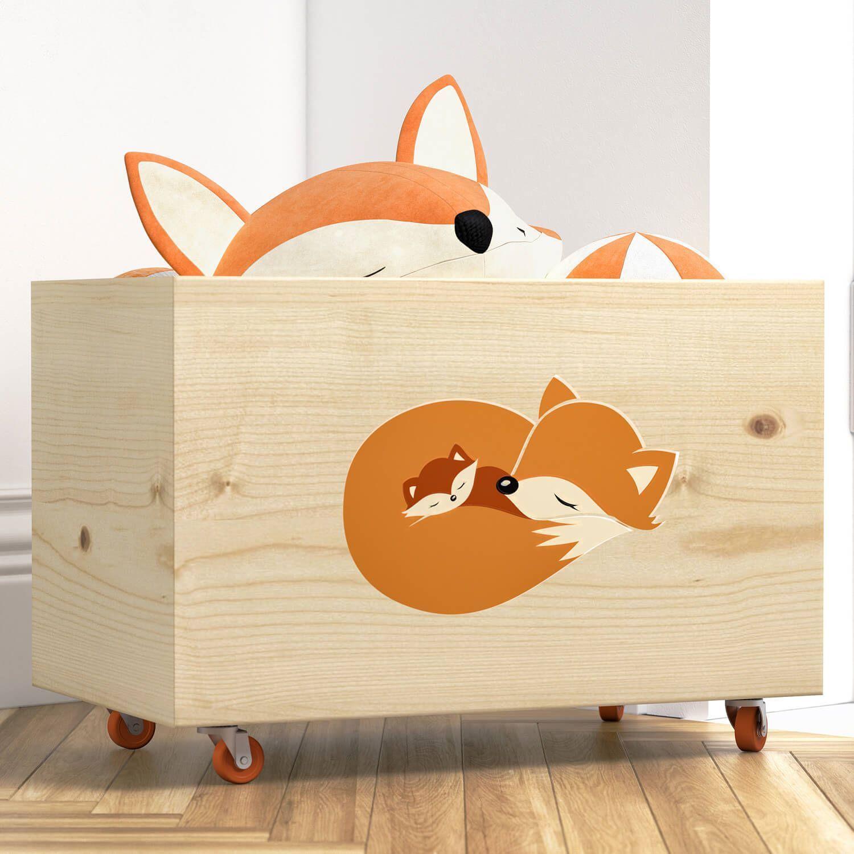 605f28a4b5dae3 Caixa Organizadora para Brinquedos Raposinha