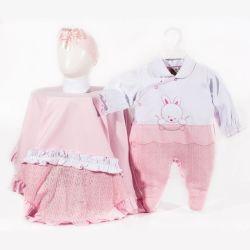 Saída Maternidade Suedine e Tricot Coelhinha